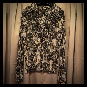 Studio 1940 Shear Bohemian Blouse